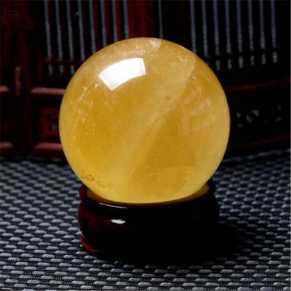 40mm Natural Topaz Quartz Stone Mag..