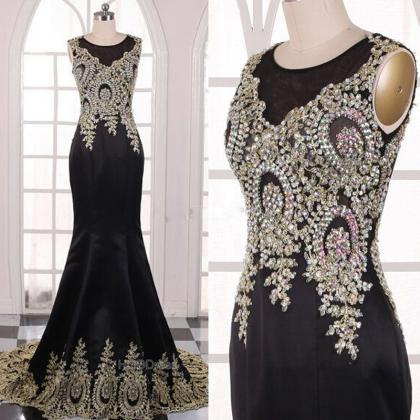 Fashion Dresses Sexy Applique Eveni..