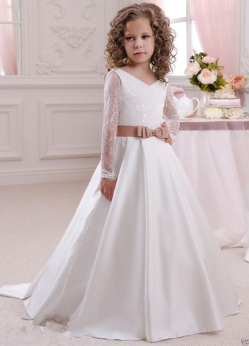Flower Girl Dresses Bridesmaid Wedding Communion Pageant Party Graduation Gown
