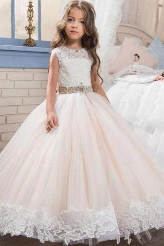 Flower Girl Dress Bridesmaid Wedding Communion Party Prom Princess Dress For Wedding Party