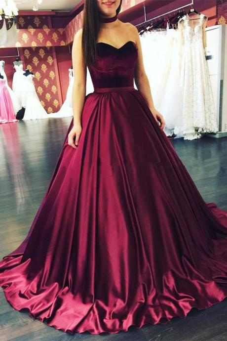 Sexy Strapless Full Length Prom Dress Evening With Bow Dress Party Dress Bridesmaid Dress Wedding Occasion Dress Formal Occasion Dress