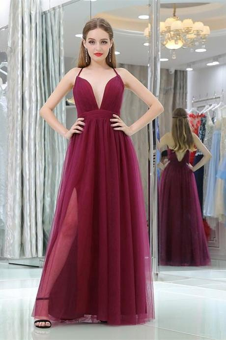 Sexy Long V Neck Chiffon Full Length Prom Dress Evening With Bow Dress Party Dress Bridesmaid Dress Wedding Occasion Dress Formal Occasion Dress