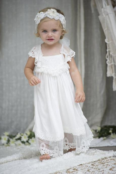 Flower Girl Dress , Kid Party Pageant dress, Princess Dress, Formal Wedding Occasion Dress, Bridesmaid Prom Dress,Brithday Party Dress