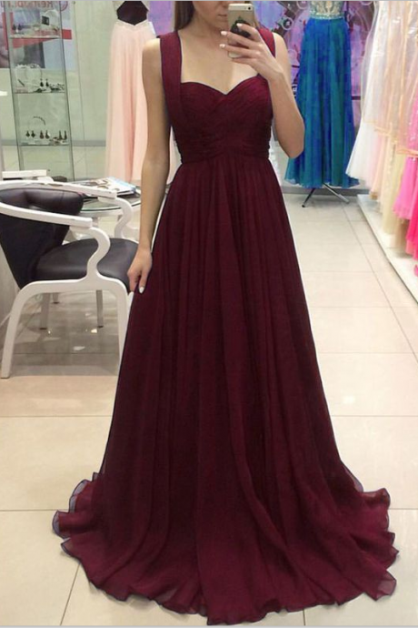 Spaghetti Straps Prom Dresses,Long Prom Dress,Plum Prom Dresses,Simple Cheap Prom Dress,Elegant Prom Dresses,Women Dresses,High Quality Prom Dresses,Evening Dresses