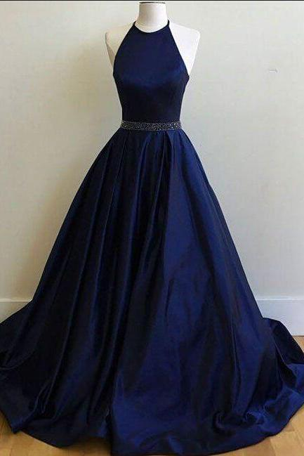 Halter Prom Dresses,Royal Blue Prom Dresses,Long Prom Dresses,Beading Prom Dresses,Backless Prom Dresses,Satin Prom Dresses,Long Prom Dresses,Simple Prom Dress,Cheap Prom Dress,Plus Size Prom Gowns,Party Dresses