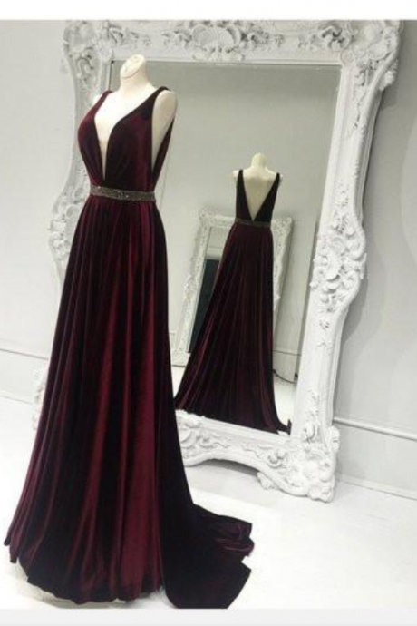 Sexy Deep V-neck Prom Dresses,Backless Prom Dresses,High Low Prom Dresses,A-line Prom Dresses,Long Prom Dresses,Charming Evening Dresses,Sparkly Prom Dress,Party Dresses