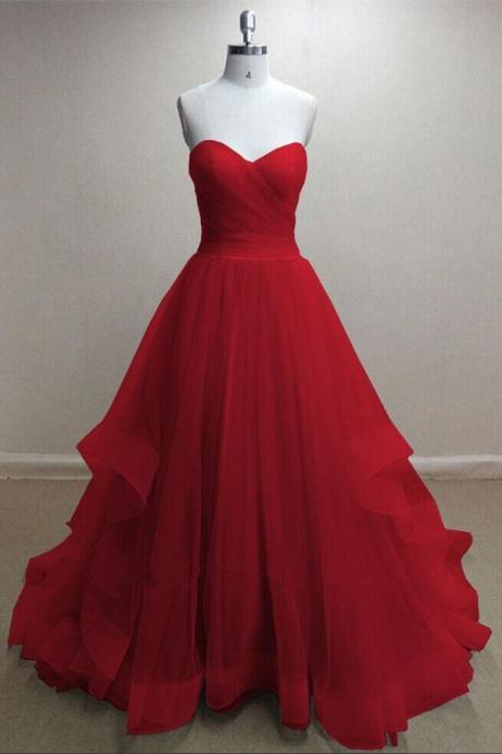 Red Lace Up Prom Dresses,Handmade Evening Dresses,Simple Cheap Prom Dresses For Teens,Sparkly Prom Dress,Party Dresses