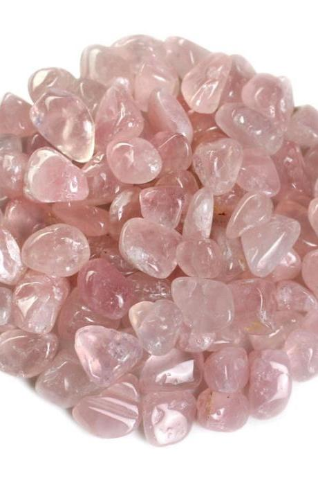 100g Large Particles 100% Natural Tumbled Clear Rose Quartz Stone Gemstone XA10