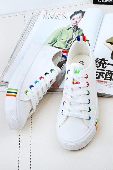 Free Shipping Slip On Sport Fashion Flat Cleats Canvas Shoes S5