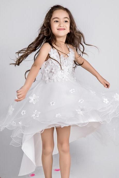 Flower Girl Dress,Kids Dress,Princess Dress,Child Clothing,Girl Dress,Party Dress,Girl Prom Dress,Bridesmaid Dress A50