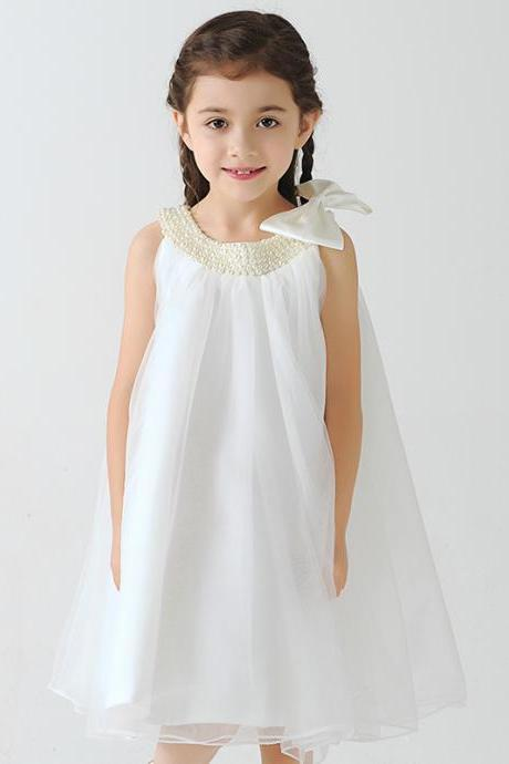 Flower Girl Dress,Kids Dress,Princess Dress,Child Clothing,Girl Dress,Party Dress,Girl Prom Dress,Bridesmaid Dress A52