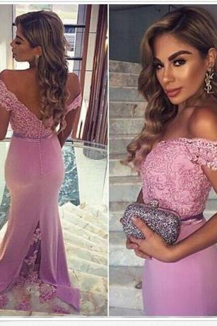 Fashion Lace Dresses Evening Party Dress Prom Dress Long Rose Red Prom Dresses BR3
