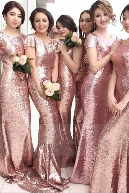 Fashion Dresses Evening Party Dress Prom Dress Long Sequines Dresses Bridesmaid Dress BR17