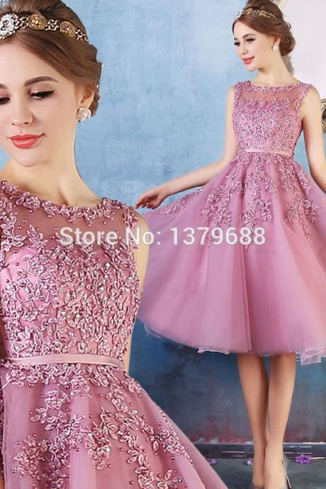Fashion Dresses Sexy Lace Applique Evening Party Dress Sexy Prom Dress Bridesmaid Dress Wedding Dress BR76
