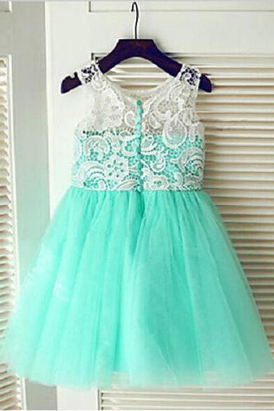 Real Flower Girl Dresses with Button New Ball Party Pageant Dress for Wedding Little Girls Kids/Children Communion Dress Kids33