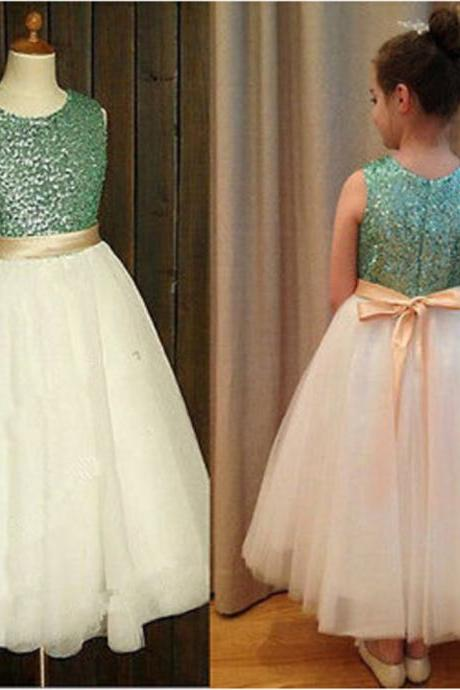 Flower Girl Dresses with Sashes Communion Ball Party Pageant Dress for Little Girls Kids/Children Dress for Wedding Kids47