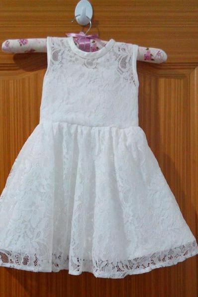 Lace Flower Girl Dresses with Bow Ball Party Pageant Dress for Little Girls Kids/Children Dress for Wedding Communion Kids49