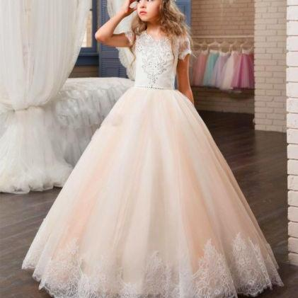 Fashion Cute Communion Party Prom Princess Pageant Bridesmaid Wedding Flower Girl Dress