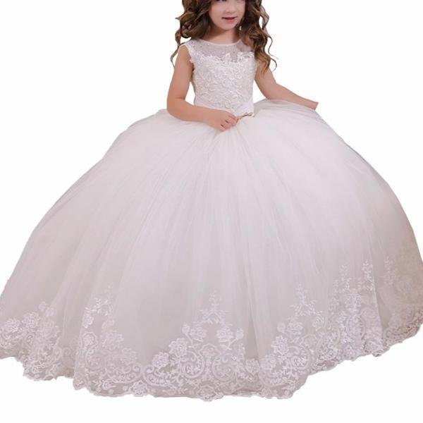 Flower Girl Dress , Kid Party Pageant dress, Princess Dress, Formal Wedding Occasion Dress, Bridesmaid Prom Dress,Brithday Party Dress,Girl Clothing