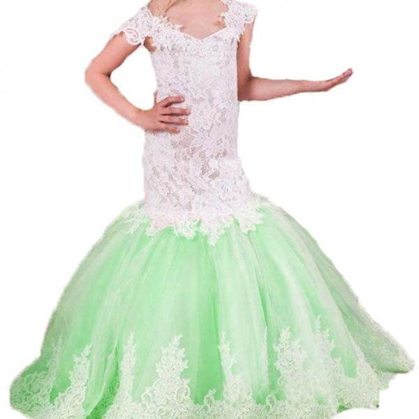 Flower Girl Dress , Lace Dress, Princess Dress,Christening Dress,Communion Dress,Christmas Thanksgiving Dress Formal Wedding Occasion Dress, Bridesmaid Prom Dress,Brithday Party Dress,Girl Clothing