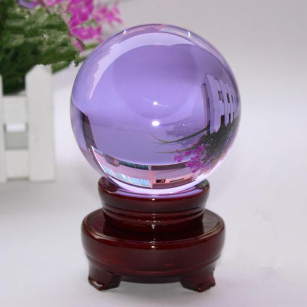 100mm Natural Purple Rock Quartz Stone Magic Crystal Healing Ball Sphere + Stand LH-27