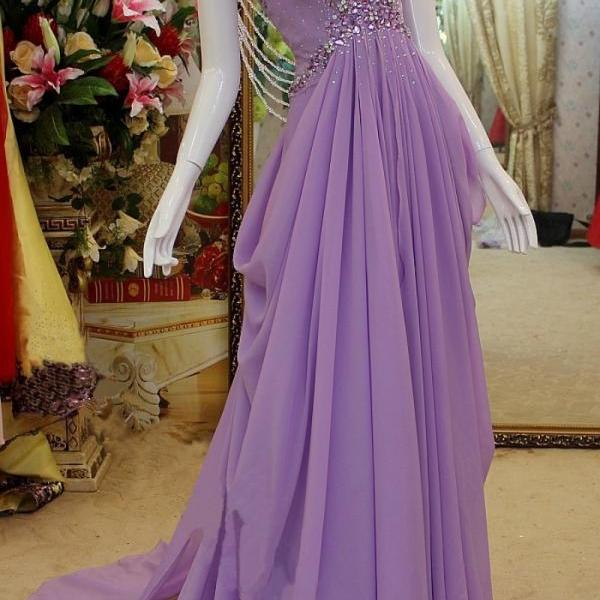 Fashion Dresses Sexy Beaded Chiffon Evening Party Dress Sexy Prom Dress Bridesmaid Dress Wedding Dress BR91